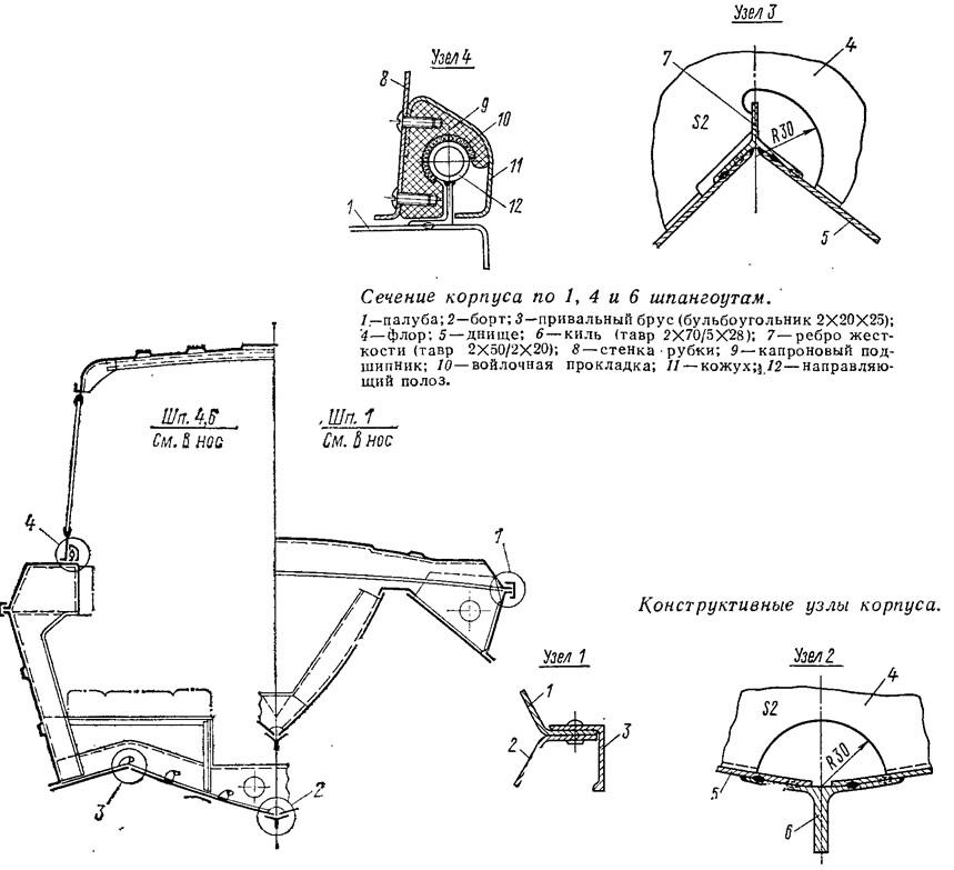 Конструктивные узлы корпуса