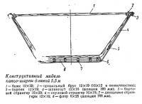 Конструктивный мидель каноэ-шарпи длиной 5,5 м