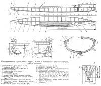 Конструктивный продольный разрез, планы и поперечные сечения
