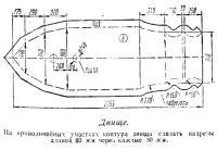 Контуры днища лодки