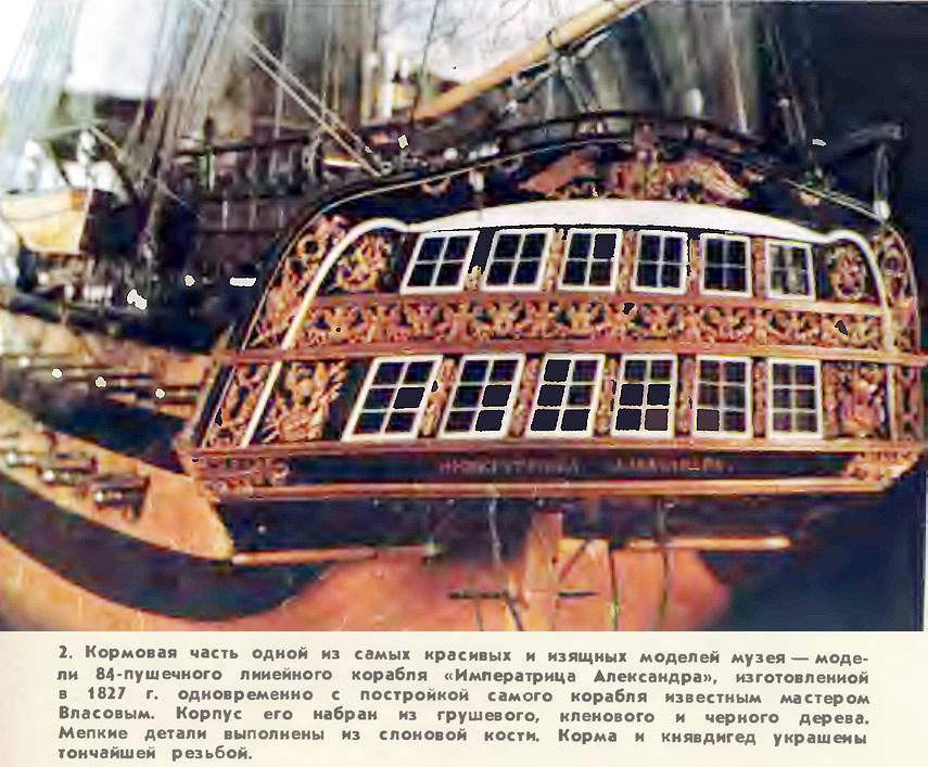 Кормовая часть 84-пушечного линейного корабля «Императрица Александра»