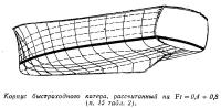 Корпус быстроходного катера