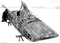 Корпус «Лаптя» в постройке