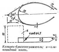 Козырек-брызгоотражатель