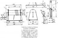 Лебедка в сборе и детали талрепа (тандера)
