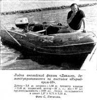 Лодка английской фирмы «Данлоп»