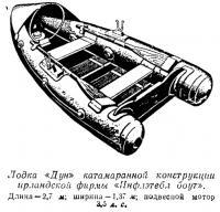 Лодка «Дун» катамаранной конструкции ирландской фирмы «Инфлэтебл боут»