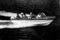 Лодка на ходу с 6 человеками