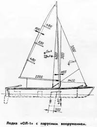 Лодка «ОЛ-1» с парусным вооружением