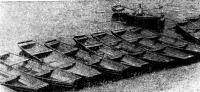 Лодки-дощаники на реке Уссури