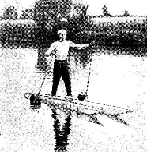 Лыжник на воде