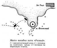 Место посадки яхты «Резвый»