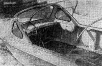 Место водителя и рулевое управление на катере В. К. Пупейка