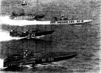 Момент гонок в американском национальном классе «Гайдро-225»