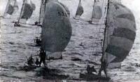 Момент гонок в Рижском заливе