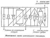 Монтажная схема электронного тахометра