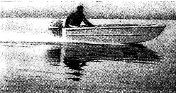 Мотолодка-тримаран «Кайман» построенная Даниловым