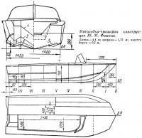 Мотолодка-тримаран конструкции Ю. М. Фомина
