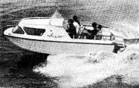 Мотолодка «Агат-4» на ходовых испытаниях