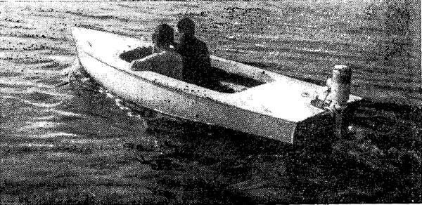 Мотор «Фишер-Электрик» с дистанционным управлением на прогулочной лодке