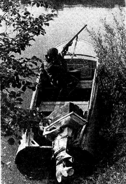 Мотор «Москва-25» на лодке