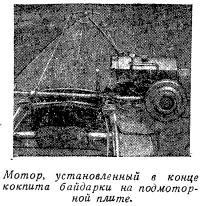 Мотор, установленный в конце кокпита байдарки