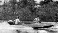 Моторная лодка «Вятка» на ходу
