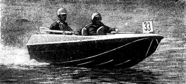 На трассе опытно-экспериментальная лодка «Неман»