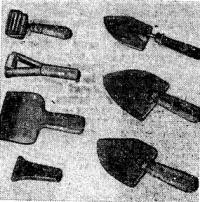 Набор инструментов применяемых при изготовлении армоцементного корпуса