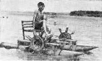 Надежный катамаран с самым надежным двигателем на Амурском заливе