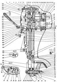 Номера деталей мотора «Вихрь»