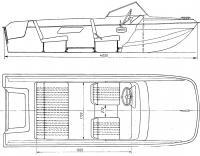 Общее расположение четырехместного катера