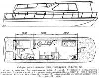 Общее расположение дачи-тримарана «Галеон-42»