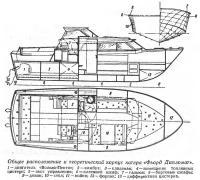 Общее расположение и теоретический корпус катера «Фьорд Дипломат»