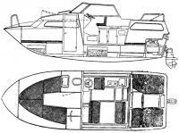 Общее расположение катера «Мариехолм-24»