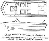 Общее расположение катера Шеврон