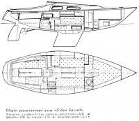 Общее расположение яхты «Албин Баллад»