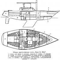 Общее расположение яхты «Бриз де Мер»