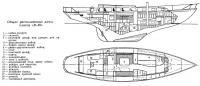 Общее расположение яхты класса «К-50»