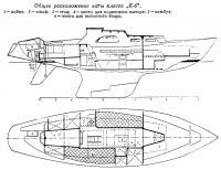 Общее расположение яхты класса К-6