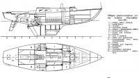 Общее расположение яхты класса «Калифорния-40»