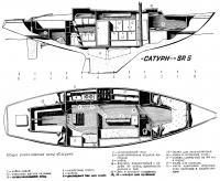 Общее расположение яхты «Сатурн»
