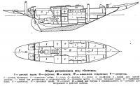 Общее расположение яхты «Светлана»