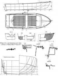 Общий вид и конструктивные узлы лодки