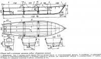 Общий вид и основные размеры лодки «Амурские волны»