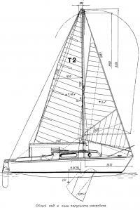 Общий вид и план парусности «Т2-69»