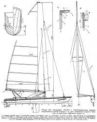 Общий вид катамарана «Хобби» с аэродинамическим крылом