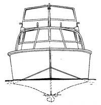 Общий вид катера спереди