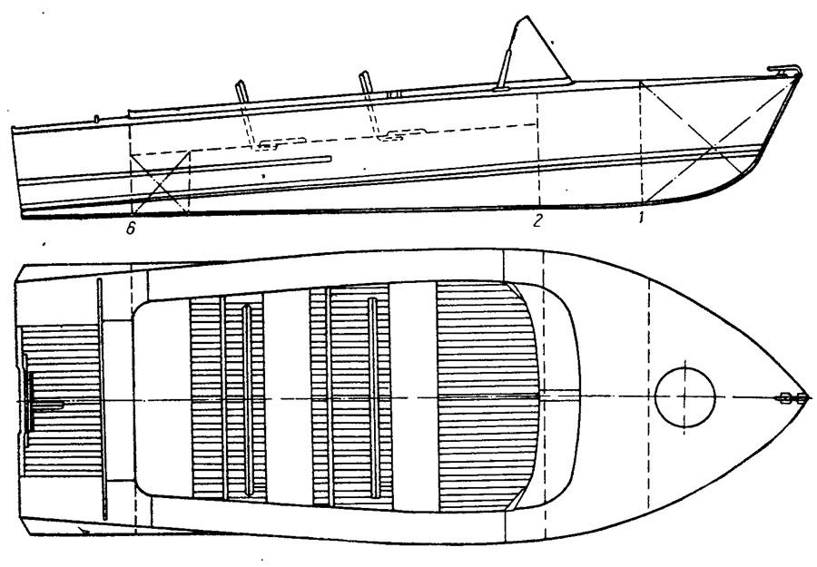чертежи лодки мкм