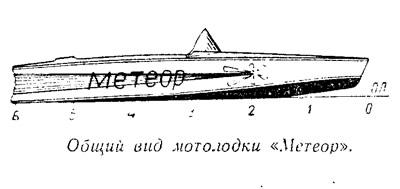 Общий вид мотолодки «Метеор»